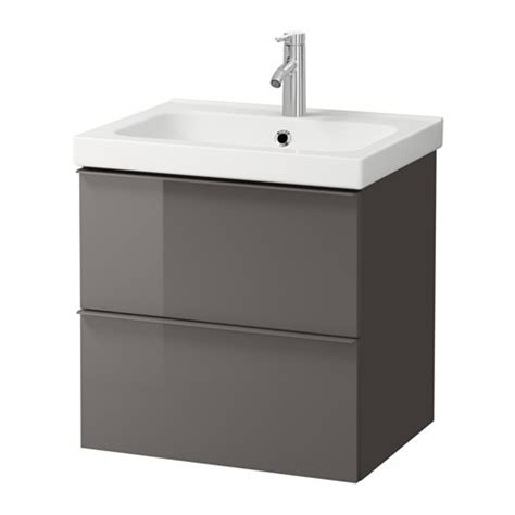 ikea meuble vasque godmorgon odensvik sink cabinet with 2 drawers high gloss gray ikea