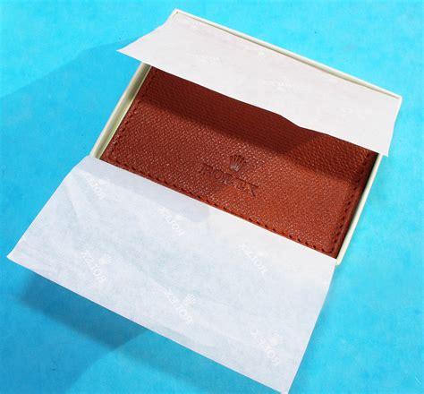 tobacco color genuine luxury rolex tobacco color leather card holder