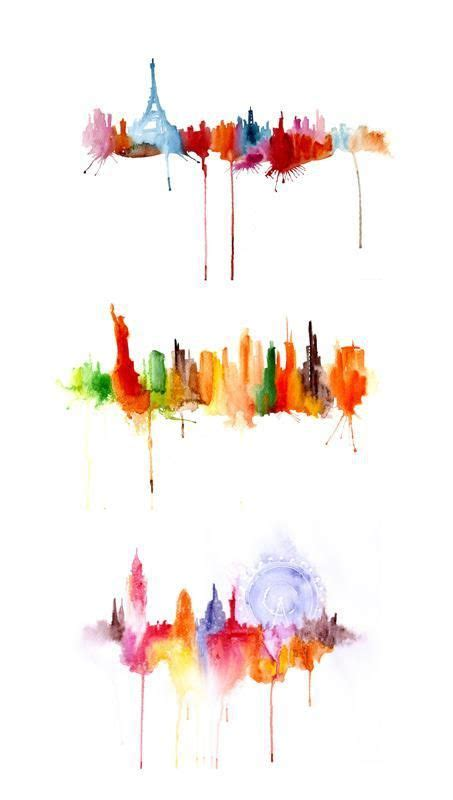 watercolor tattoos new york watercolor cityscapes by romanova new york
