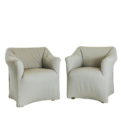pair of tentazione lounge chairs for cassina by mario