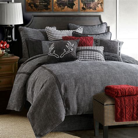 hamilton black tweed comforter bedding