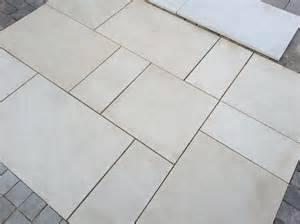 Patio Paving Slabs Uk Mint Indian Sandstone Honed Calibrated Patio Paving Slabs