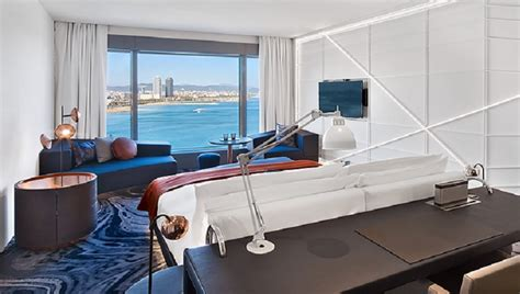multi million renovation of living room at w iconic w barcelona completes multi million room renovation