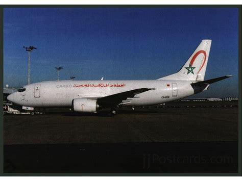 royal air maroc cargo b 737 postcard jjpostcards