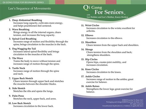 printable exercise program for seniors qi gong for seniors