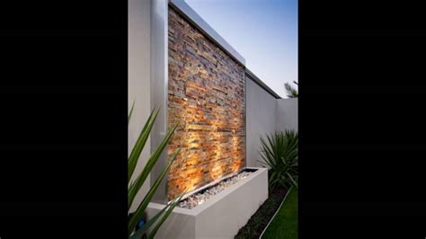 wall water feature youtube