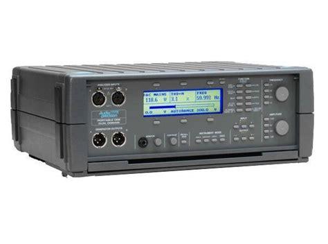 audio test used audio precision p1pa portable one plus access audio