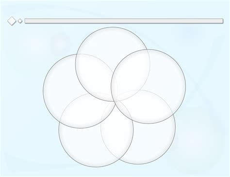 Circle Diagram Template by 5 Circle Venn Diagram Exle 5 Circle Chart Elsavadorla