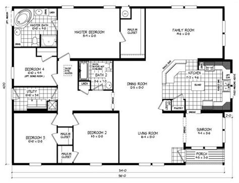 triple section manufactured homes model russell type triple section dimensions 40 x56