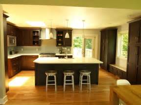 open kitchen with island open concept oversized island transitional kitchen new york by kraftmaster renovations