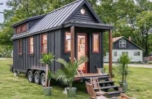 Small Home Building Towable Riverside Tiny House Packs Every Conventional