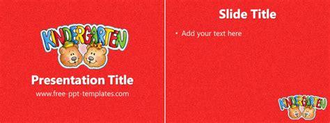 ppt templates for preschool kindergarten ppt template free powerpoint templates