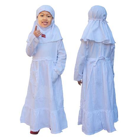 Gamis Putih Jumbo Baju Umroh Baju Manasik Baju Haji Busana Muslim baju manasik haji anak perempuan baju ihram dan seragam