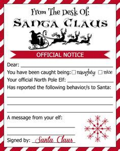 printable elf on the shelf warning letter naughty warning letter from santa pdf elf by