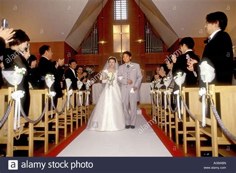 Wedding Ceremony In Japan by A Japanese Wedding In Catholic Church Within A