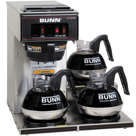 bunn 13300 0003 vp17 3 low profile pourover coffee brewer