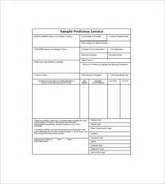 proforma invoice template excel proforma invoice template free excel word pdf