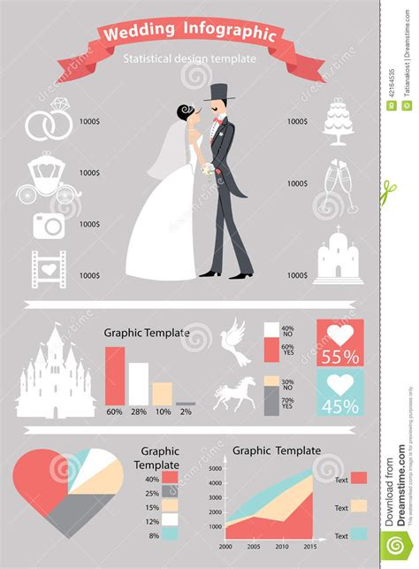 wedding infographic template wedding infographics set retro stock vector