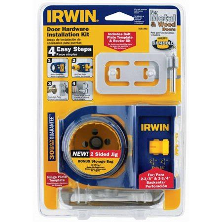 irwin tools door lock installation kit irwin industrial tool 3111002 door lock installation kit