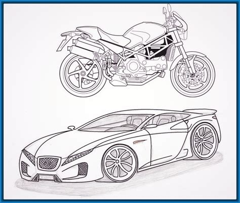imagenes de motos y carros fotos de motos y autos imagenes de dibujos de autos y motos archivos imagenes de dibujos