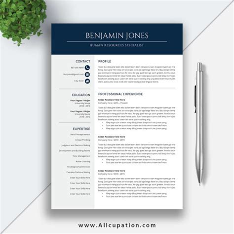 user guide word template website resume cover letter professional and modern resume template for ms office word