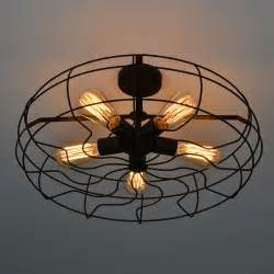 Kitchen Fans With Lights Vintage Retro Industrial Fan Ceiling Lights American Country Kitchen Loft L Iron Material