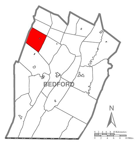 map usa pennsylvania highlighted file map of west st clair township bedford county