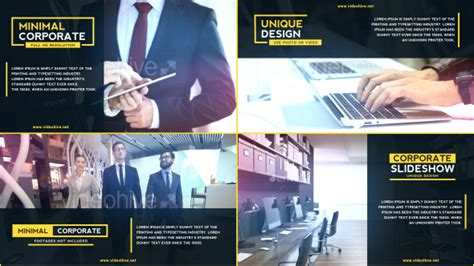 business presentation corporate after effects templates