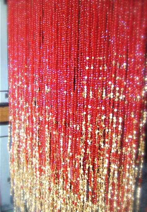 a beaded curtain red acrylic crystal gold bead curtain memories of a