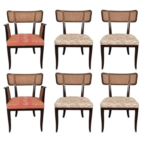Dining Room Chair Set Of 6 by Set Of Six Edward Wormley Dining Room Chairs With Caning For Dunbar At 1stdibs