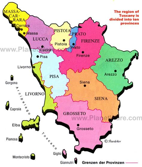 map of tuscany 12 top tourist attractions in tuscany planetware