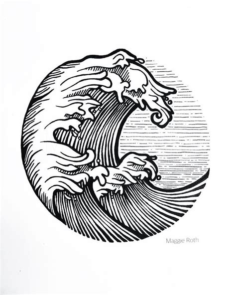 line art tattoo best 25 wave drawing ideas on wave design