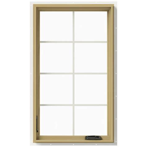 Jeld Wen Aluminum Clad Wood Windows Decor Jeld Wen 28 In X 48 In W 2500 Left Casement Aluminum Clad Wood Window Thdjw140100413