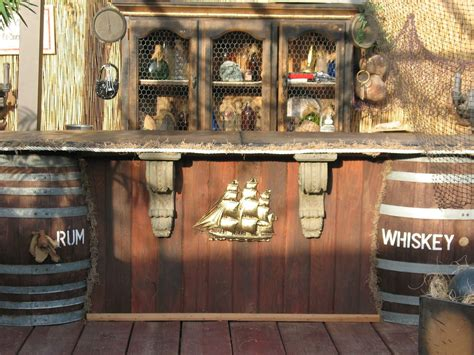 outdoor themed home decor cement topped pirate bar loving it pirate back yard