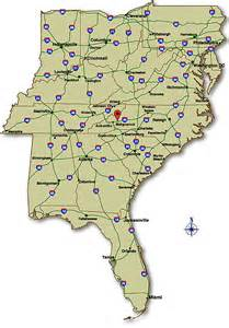 map of the southeast united states employment application va clinic nc employment