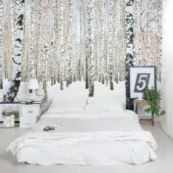 Trees Wall Mural Winter Birch Trees Wall Mural