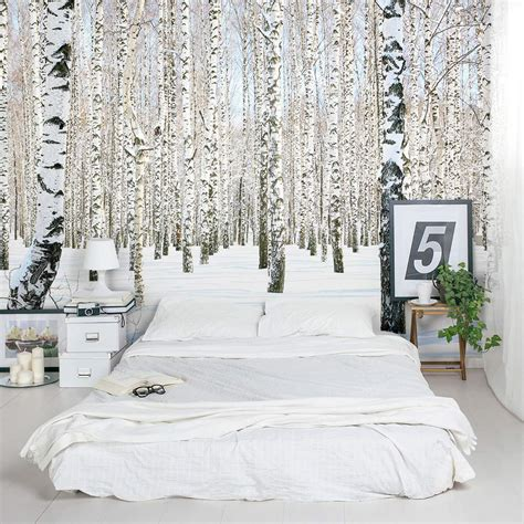 murals for bedrooms birch tree wall mural winter birch tree wallpaper