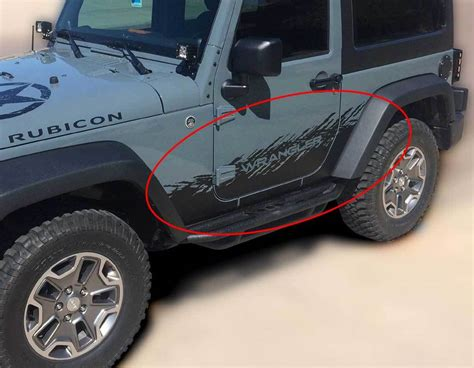 Jeep Wrangler Rubicon Aufkleber by Product Jeep Decal Sticker Graphics 07 16 Wrangler