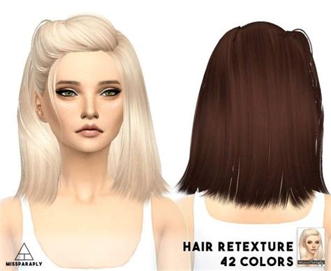cc hair for sism4 miss paraply skysims hairstyle retextured for sims 4