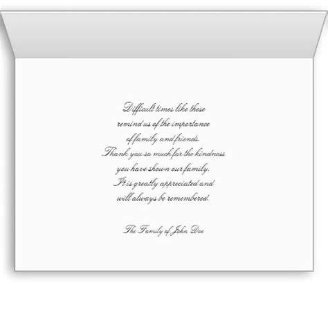 thank you letter sympathy gift writing thank you notes for memorial donations exles