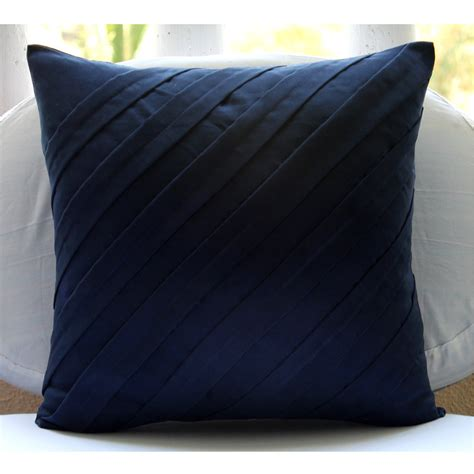 Navy Blue Pillows Contemporary Navy Blue Pillow Sham Covers 24x24 Inches