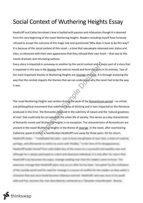 wuthering heights critical analysis essay coursework writing service