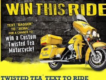 Sweepstakes Text - twisted tea text to ride sweepstakes sweepstakes fanatics