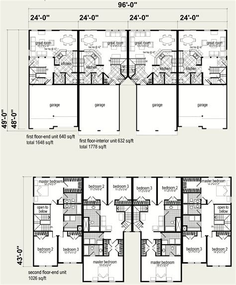 4 plex apartment plans plex plans 28 images free home plans 4 plex building