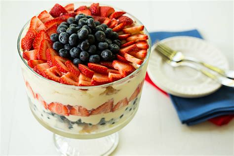 red white and blueberry trifle recipe food network red white and blue berry trifle recipe dishmaps