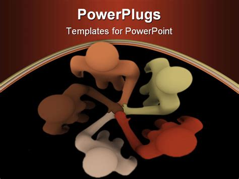 powerpoint template racially diverse people coming