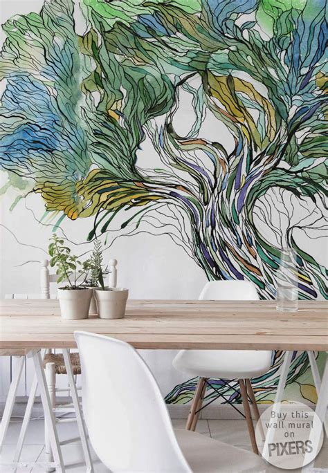 tree wall mural inspirations pixersize