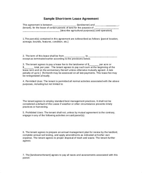 Basic Lease Agreement Exle 12 Free Word Pdf Documents Download Free Premium Templates Simple Lease Contract Template