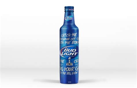 how is a bud light bottle bud light bowl xlix limited edition bottle on