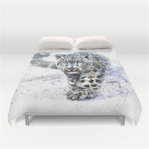 snow leopard bedding snow leopard duvet cover by kostart society6